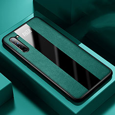 Soft Silicone Gel Leather Snap On Case Cover for Oppo Find X2 Lite Green