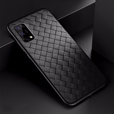 Soft Silicone Gel Leather Snap On Case Cover for Oppo K7x 5G Black