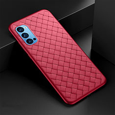 Soft Silicone Gel Leather Snap On Case Cover for Oppo Reno4 5G Red