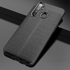 Soft Silicone Gel Leather Snap On Case Cover for Realme 5i Black