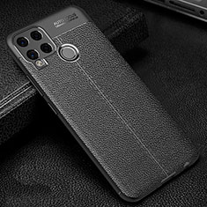 Soft Silicone Gel Leather Snap On Case Cover for Realme C15 Black