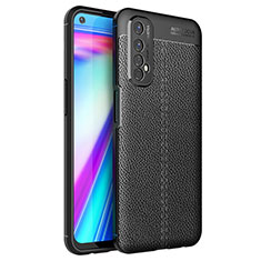 Soft Silicone Gel Leather Snap On Case Cover for Realme Narzo 20 Pro Black
