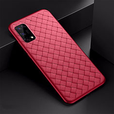 Soft Silicone Gel Leather Snap On Case Cover for Realme V5 5G Red