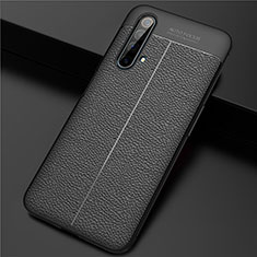 Soft Silicone Gel Leather Snap On Case Cover for Realme X3 Black
