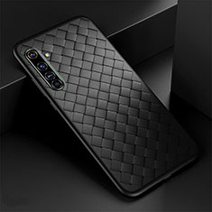 Soft Silicone Gel Leather Snap On Case Cover for Realme X50 Pro 5G Black