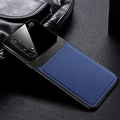 Soft Silicone Gel Leather Snap On Case Cover for Realme X50m 5G Blue