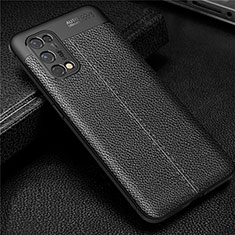 Soft Silicone Gel Leather Snap On Case Cover for Realme X7 Pro 5G Black