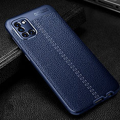 Soft Silicone Gel Leather Snap On Case Cover for Samsung Galaxy A31 Blue
