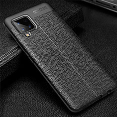 Soft Silicone Gel Leather Snap On Case Cover for Samsung Galaxy A42 5G Black