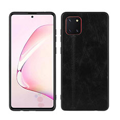 Soft Silicone Gel Leather Snap On Case Cover for Samsung Galaxy A81 Black