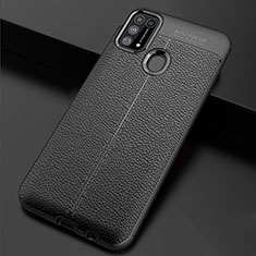 Soft Silicone Gel Leather Snap On Case Cover for Samsung Galaxy M21s Black