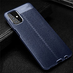 Soft Silicone Gel Leather Snap On Case Cover for Samsung Galaxy M31s Blue