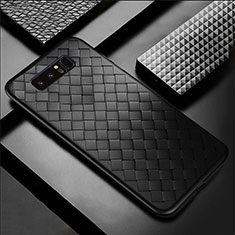 Soft Silicone Gel Leather Snap On Case Cover for Samsung Galaxy Note 8 Duos N950F Black