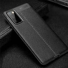 Soft Silicone Gel Leather Snap On Case Cover for Samsung Galaxy S20 FE 5G Black