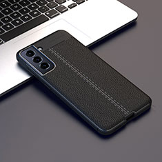 Soft Silicone Gel Leather Snap On Case Cover for Samsung Galaxy S21 Plus 5G Black