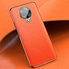 Soft Silicone Gel Leather Snap On Case Cover for Vivo Nex 3S Orange