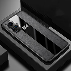 Soft Silicone Gel Leather Snap On Case Cover for Vivo X51 5G Black