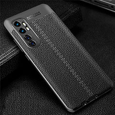 Soft Silicone Gel Leather Snap On Case Cover for Xiaomi Mi Note 10 Lite Black