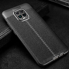 Soft Silicone Gel Leather Snap On Case Cover for Xiaomi Redmi 10X Pro 5G Black