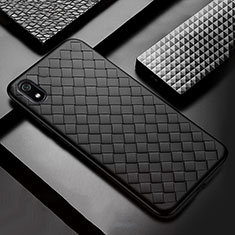Soft Silicone Gel Leather Snap On Case Cover for Xiaomi Redmi 7A Black