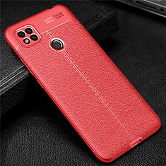 Soft Silicone Gel Leather Snap On Case Cover for Xiaomi Redmi 9 India Red