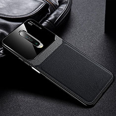 Soft Silicone Gel Leather Snap On Case Cover for Xiaomi Redmi K30 5G Black