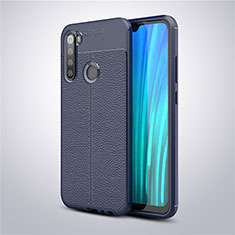 Soft Silicone Gel Leather Snap On Case Cover for Xiaomi Redmi Note 8 Blue