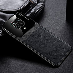 Soft Silicone Gel Leather Snap On Case Cover for Xiaomi Redmi Note 9 Pro Black