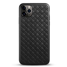 Soft Silicone Gel Leather Snap On Case Cover G01 for Apple iPhone 11 Pro Black