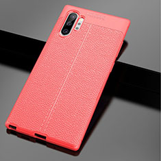 Soft Silicone Gel Leather Snap On Case Cover G01 for Samsung Galaxy Note 10 Plus 5G Red