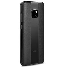 Soft Silicone Gel Leather Snap On Case Cover H01 for Huawei Mate 20 RS Black