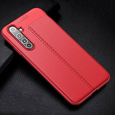 Soft Silicone Gel Leather Snap On Case Cover H01 for Realme X50 Pro 5G Red