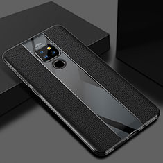 Soft Silicone Gel Leather Snap On Case Cover H02 for Huawei Mate 20 Black