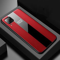 Soft Silicone Gel Leather Snap On Case Cover H02 for Huawei P40 Lite Red