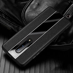 Soft Silicone Gel Leather Snap On Case Cover H02 for OnePlus 8 Black