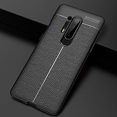 Soft Silicone Gel Leather Snap On Case Cover H03 for OnePlus 8 Pro Black