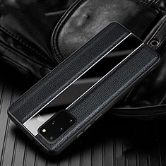 Soft Silicone Gel Leather Snap On Case Cover H03 for Samsung Galaxy S20 Plus 5G Black