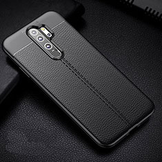 Soft Silicone Gel Leather Snap On Case Cover H03 for Xiaomi Redmi Note 8 Pro Black