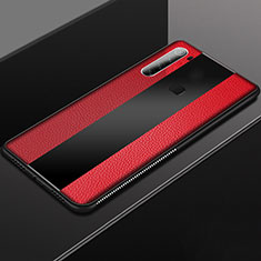 Soft Silicone Gel Leather Snap On Case Cover H03 for Xiaomi Redmi Note 8 Red