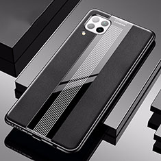 Soft Silicone Gel Leather Snap On Case Cover H05 for Huawei P40 Lite Black