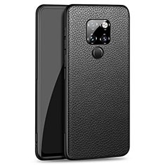 Soft Silicone Gel Leather Snap On Case Cover H06 for Huawei Mate 20 Black