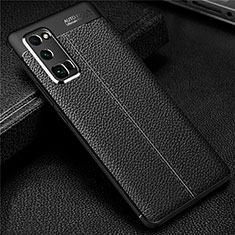 Soft Silicone Gel Leather Snap On Case Cover S01 for Huawei Honor 30 Pro Black