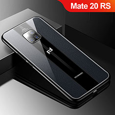 Soft Silicone Gel Leather Snap On Case Cover S01 for Huawei Mate 20 RS Black