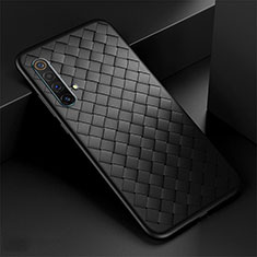 Soft Silicone Gel Leather Snap On Case Cover S01 for Realme X3 SuperZoom Black
