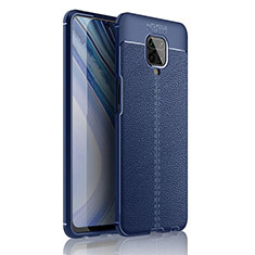 Soft Silicone Gel Leather Snap On Case Cover S01 for Xiaomi Redmi Note 9 Pro Max Blue