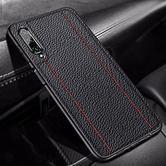 Soft Silicone Gel Leather Snap On Case Cover S02 for Huawei Honor 9X Pro Black