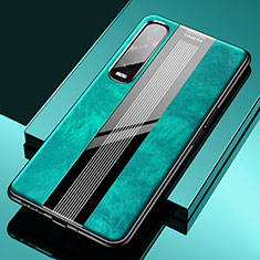 Soft Silicone Gel Leather Snap On Case Cover S02 for Oppo Find X2 Pro Green