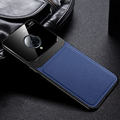 Soft Silicone Gel Leather Snap On Case Cover S02 for Vivo Nex 3 Blue