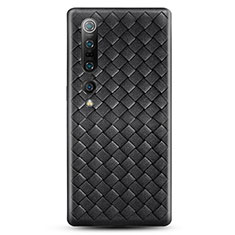 Soft Silicone Gel Leather Snap On Case Cover S02 for Xiaomi Mi 10 Pro Black