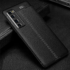Soft Silicone Gel Leather Snap On Case Cover S03 for Huawei Nova 7 Pro 5G Black